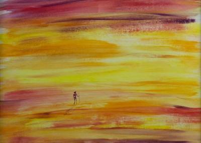 """Glowing Horizons (Acrylics 14""""x18"""")"""