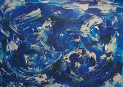 "The Tempest (Acrylics 24""x18"")"