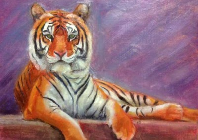 """Tiger 2016 (Oils 20""""x16"""")"""