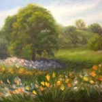 Spring Blooms - Plein Air Painting